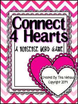 Valentines Day Connect Four Heart {Nonsense Word Edition}