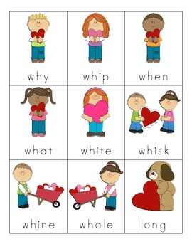 Valentine's Day Consonant Digraph Cards