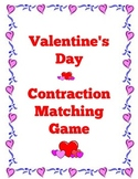 Valentine's Day Contraction Matching Game