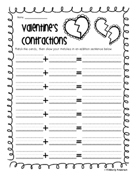 Valentine's Day Contractions Match