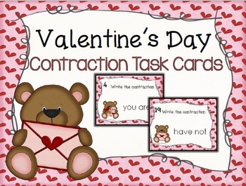 Valentine's Day Contractions Task Cards