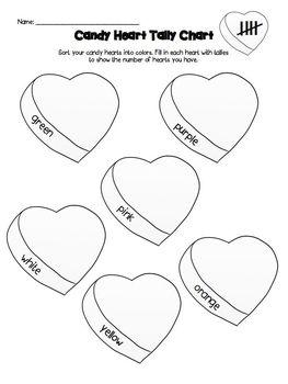 Valentine's Day Conversation Candy Heart Math Grade K-2