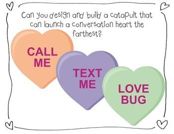 Valentine's Day Conversation Hearts Catapult STEM Engineering Challenge