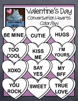 Valentine's Day Conversation Hearts Clip Art