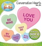 Valentine's Day Conversation Hearts Clipart {Zip-A-Dee-Doo-Dah Designs}