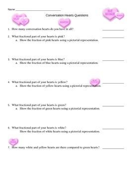 Conversation Hearts Math Questions