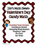 Valentine's Day Math with Candy Hearts- fractions, comparing, graphing