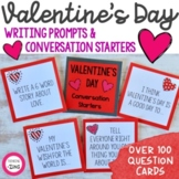 Valentine's Day Question Cards Activity - Conversation Starters & Writing Prompt