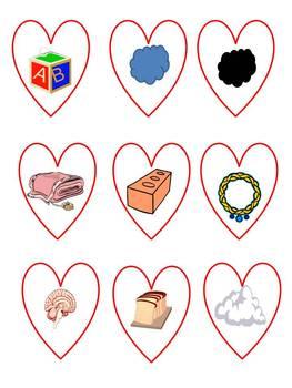 Valentine's Day Cookie Cutter Consonant Blend Sort