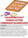 Valentine's Day Cookie Cutter Consonant Blend Sort