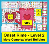 Valentine's Day Activities: Phonics: Blending Onset Rime Level 2