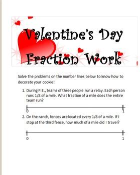 Valentine's Day Cookie Fraction Work