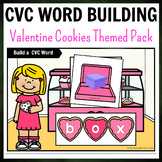 Valentines Day Cookies Themed CVC Word Building Pack