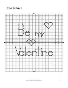 valentine 39 s day coordinate graphing 4 quad no decimals tpt. Black Bedroom Furniture Sets. Home Design Ideas