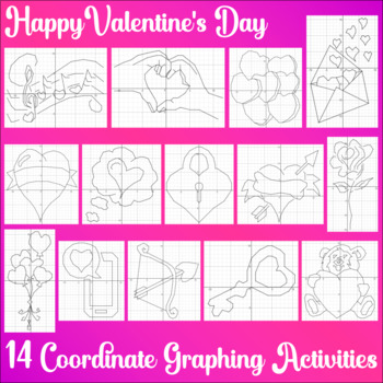 Valentine's Day - The Big Bundle - 14 Coordinate Graphing Activities