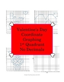 Valentine's Day Coordinate Graphing - First Quad. Only - Heart +2 more
