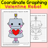 Valentine's Day Math: Coordinate Graphing Ordered Pairs Robot Mystery Picture