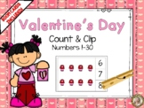 Valentine's Day Count & Clip 1-20