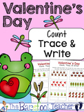 Valentine's Day Math - Count, Trace, & Write