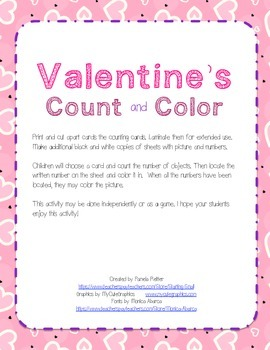 Count and Color 1-10 Valentine's Day
