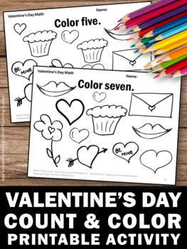 Day Coloring Pages Kindergarten Math Worksheets Count and Color