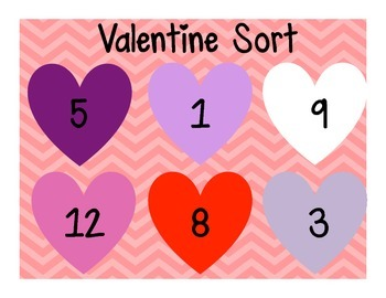 Valentine's Day Count and Match Activity