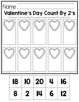 Valentine's Day Skip Counting {Count by 2's, 5's and 10's}