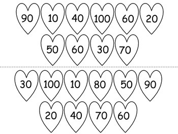 Valentine's Day Count by tens