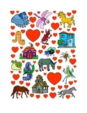 #17 Valentine's Day Count the Number of Hearts Printout