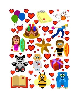 #2 Valentine's Day Count the Number of Hearts Printout