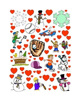 #24 Valentine's Day Count the Number of Hearts Printout