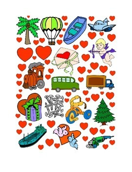 #27 Valentine's Day Count the Number of Hearts Printout