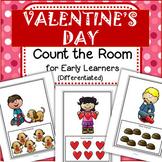 Valentine's Day Count the Room for Preschool and Kindergarten