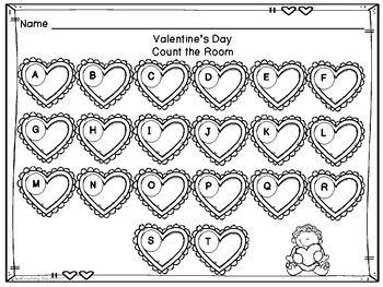 Valentine's Day Count the Room{1 to 20}