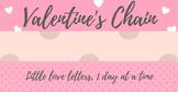 Valentines Day Countdown Chain