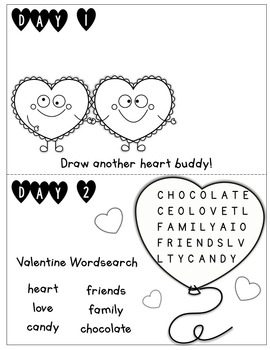 Valentine's Day Countdown Activity Book