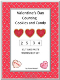 Valentine's Day's Counting Cookies Math Centers Addition Subtraction Special Ed.