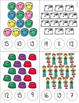 Valentines Day Counting Clip Cards 1-20