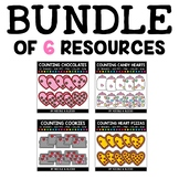 Valentines Day Counting Clipart Bundle