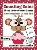 St Valentine's Day Money (Coins) Center Games and Printables