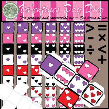 Valentine's Day Counting Dice Clip Art Set {Messare Clips & Design}