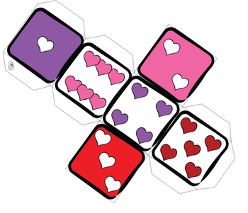 Valentine's Day Counting Dice Clip Art Set {Messare Clips & Design}