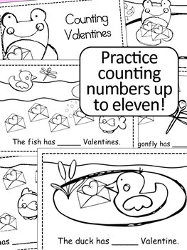 Valentine's Day Counting Emergent Reader