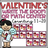 Valentines Day  Math Center Activity Kindergarten Counting Teen Numbers 11-20
