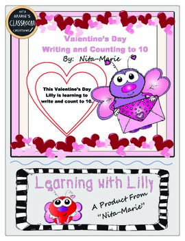 Counting and Writing to 10 ~ Valentine's Day