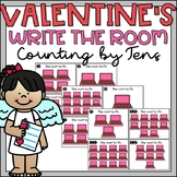 Valentines Day Counting by 10s to 120 Math Center or Write the Room
