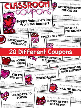 Valentine's Day Activities - Printable Valentines Coupon Booklet for Students