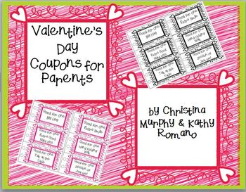 Valentine's Day Coupons for Parents