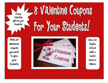 Valentine's Day Coupons for Your Students