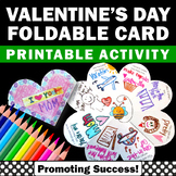 Foldable Valentine's Day Card for Students to Make, Valent